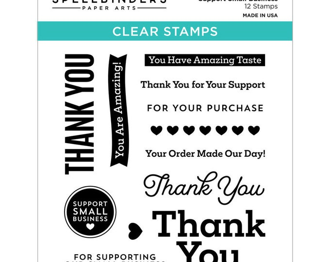 Support Small Business Clear Stamps Special Edition Collection