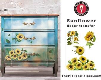 SUNFLOWER Rub On Transfer  Dixie Belle transfer, flower Transfers,  sunflower transfer , Belles and Whistles Transfer, Free shipping