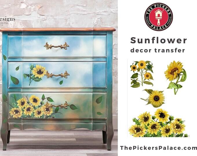 NEW Sunflower Rub On Transfer  Dixie Belle transfer, flower Transfers,  sunflower transfer , Belles and Whistles Transfer, Free shipping