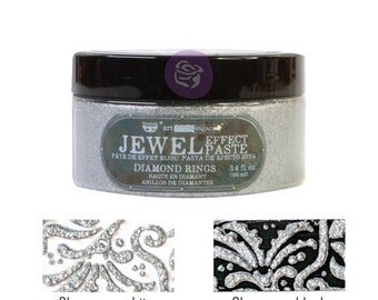 Diamond Rings,  Art Extravagence Jewel Texture pastes, sparkly paste, stencil paste, mixed media, journaling , FREE SHIPPING