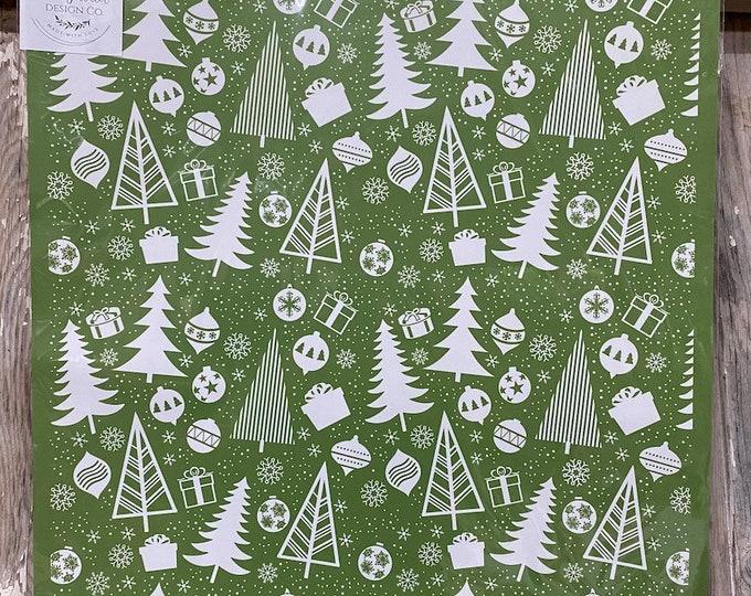 Christmas Pattern Magnolia Design Company Stencil, Reusable Stencil, Adhesive Stencil FREE SHIPPING