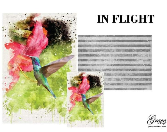 Pre Order IN FLIGHT Grace on Design  Decoupage Pack, 3 sheets , Free Shipping