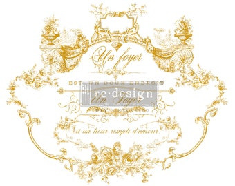 LOVELY SCRIPT Gold Rub on Furniture transfers from  Prima Redesign with Free shipping