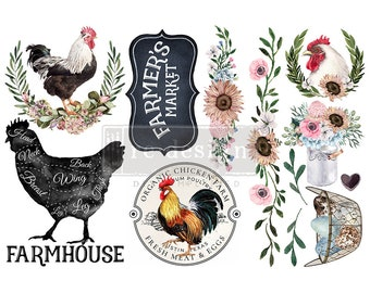 """Affordable transfers! Morning Farmhouse Transfer Collection 12"""" X 6"""" with FREE Shipping"""