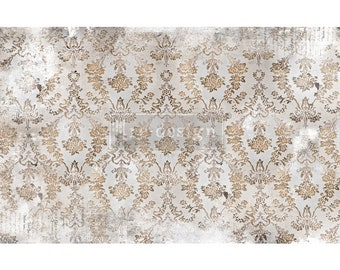 "Prima Decoupage Mulberry Decor Tissue Paper WASHED DAMASK Free Shipping  19"" x 30"" Re-Design with Prima"