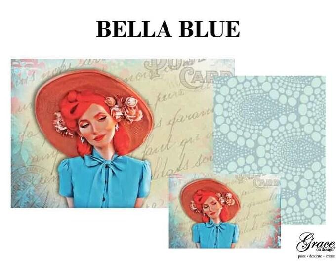 BELLA BLUE Decoupage Pack, 3 sheets , Free Shipping