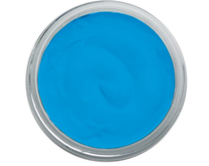 Chalk INK for fabric with stencils , VIVID CERULEAN ink  , t-shirts, clothes  from Magnolia Design, Free Shipping