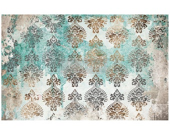 "NEW Patina Flourish Prima Decoupage Mulberry Tissue Paper,  Free Shipping  19"" x 30"" Re-Design with Prima"