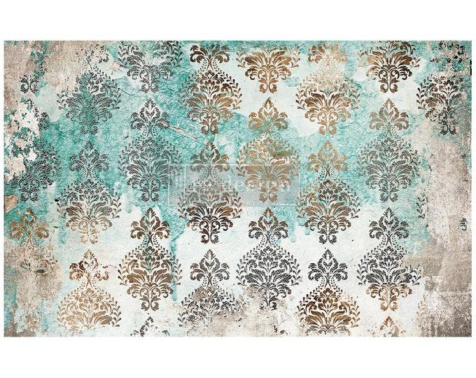 "NEW Patina Flourish Prima Decoupage Mulberry Tissue Paper,  Free Shipping  19"" x 30"" Re-Design with Prima"