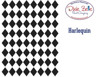 NEW! Dixie Belle Stencils, Harlequin Furniture Stencils, Mylar Stencils,  Wall stencil, stencils, FREE SHPPING