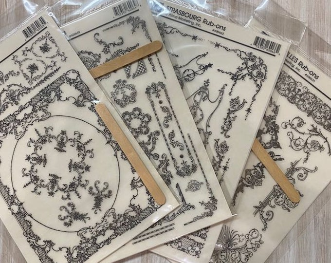 Transfer Sample Bundle, Mini Transfers: Single sheet small transfers for small projects , DIY gift