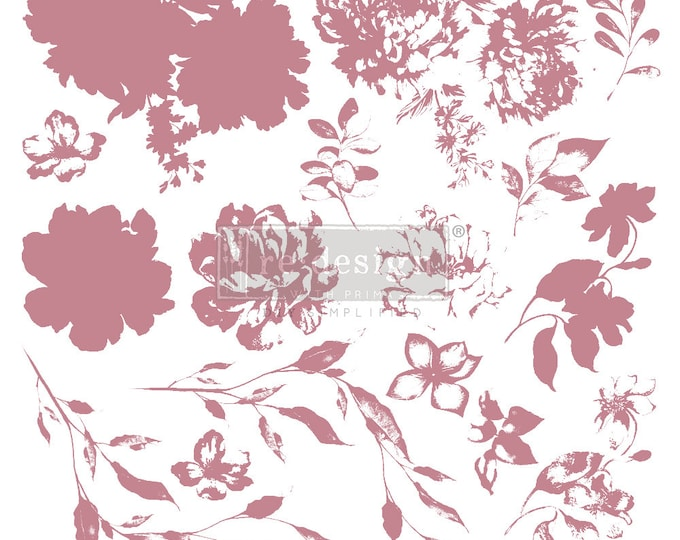 """SWEET BLOSSOM Clearly Aligned Decor Stamp, Prima Redesign Stamp, Free Shipping, 12""""x12"""""""