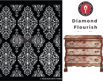 Diamond Flourishl from ReDesign for furniture, walls and whatever you dream up!