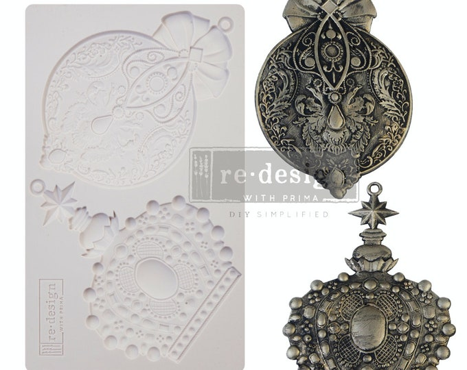 SALE Price on Mold VICTORIAN ADORNMENTS Free Shipping Redesign with Prima Decor Moulds , Silicone Mold,  Resin Mold, 5 x 8 Silicone Mold