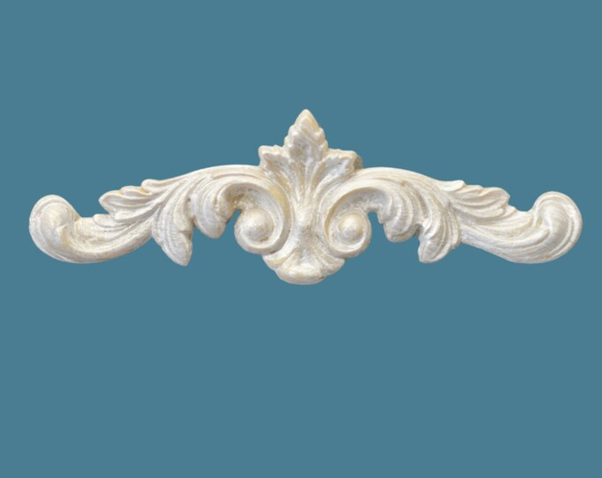 P13 Dainty Floral Pediment, EFEX, Replacement Moulding, Historic Moulding, Silicone Moulding, Embellishment , Made In USA, Free Shipping
