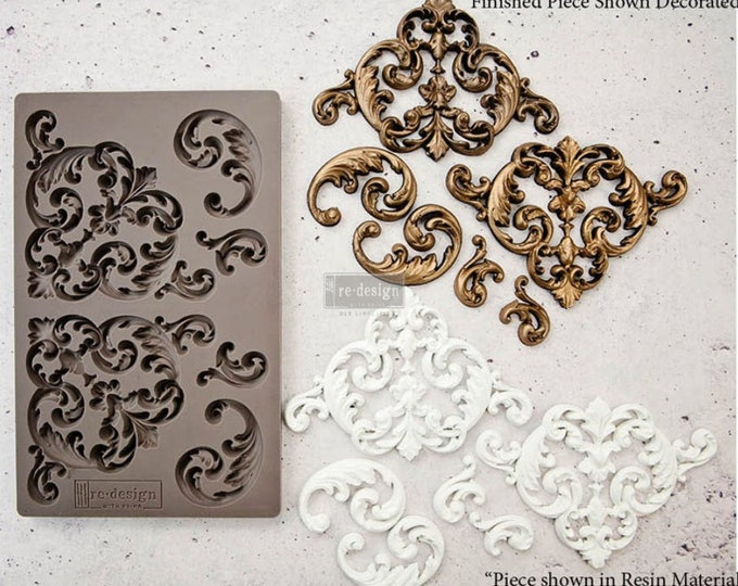 Hollybrook Ironwork FREE SHIPPING Redesign with Prima Decor Moulds , Silicone Mold,  Resin Mold, 5 x 8 Silicone Mold