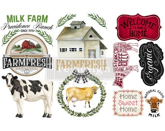Home And Farm Small, Rub On Farmhouse transfer, Redesign with Prima. FREE Shipping