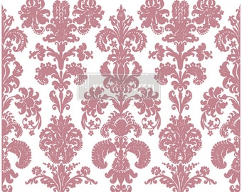 """STAMPED DAMASK Clearly Aligned Decor Stamp, damask stamp,  Free Shipping Prima Redesign Stamp , Mixed Media, Walls, , 12""""x12"""""""