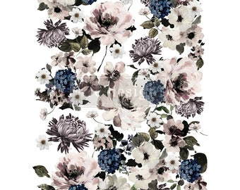 Dark Floral Rub On Furniture Transfer with FREE SHIPPING for furniture painting and furniture design