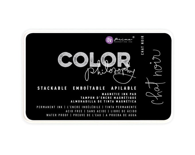 Ink Pad, Chat Noir Color Philosophy Stackable Magnetic Ink Pad, stamp, ink, blend, watercolor