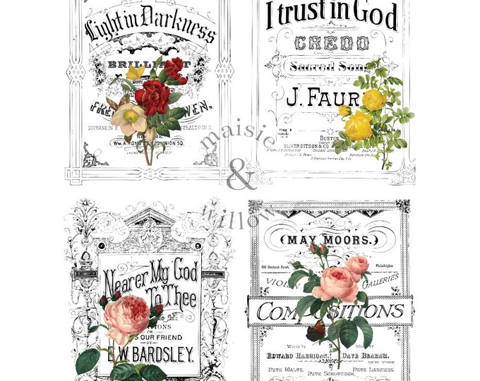 MAISIE & WILLOW Light and Flowers, christian transfer, Prima Transfers, Redesign Transfer, Free shipping