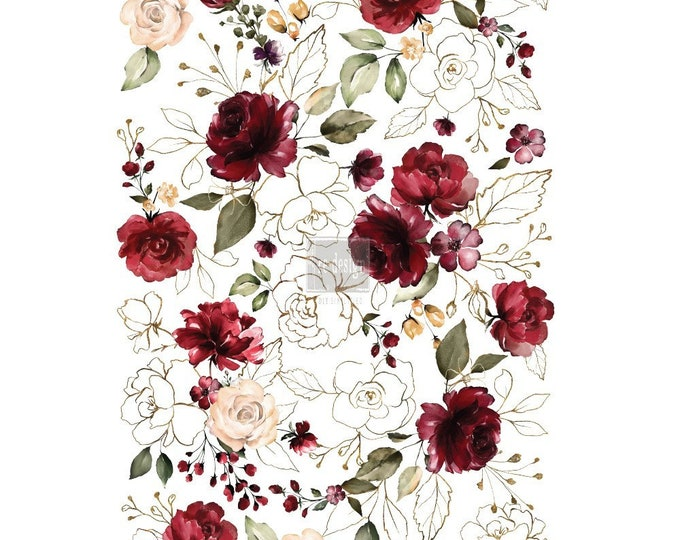 Midnight Floral Prima Redesign Decor Transfer FREE SHIPPING