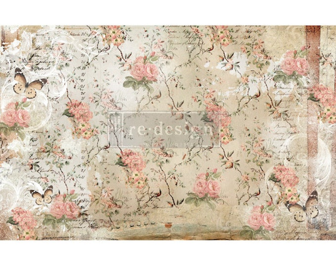"Prima Decoupage Mulberry Decor Tissue Paper BOTANICAL  Free Shipping  19"" x 30"" Re-Design with Prima"