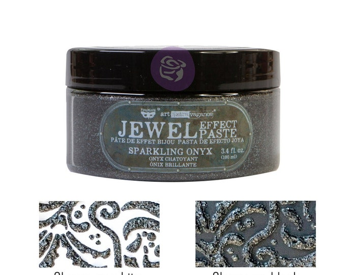 Sparkling Onyx, Art Extravagence Jewel Texture pastes, sparkly paste, stencil paste, mixed media, journaling , FREE SHIPPING