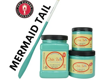 Shade of Teal and Turquoise in Dixie Belle Chalk Paint , Teal Paint, Turquoise Chalk Mineral Paint, Furniture Paint