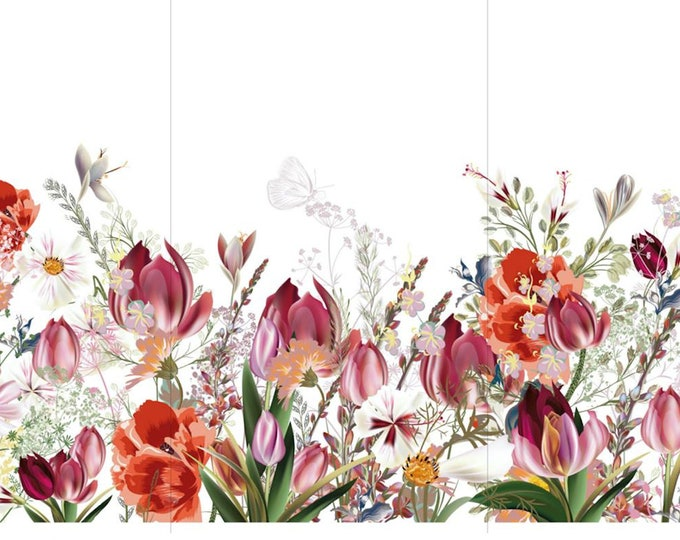 New TULIP FIELDS  Hokus Pocus transfer, tulip flowers,  New Furniture Transfers, Decor Transfer, Rub on Transfer,  Free shipping