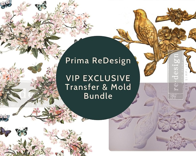 VIP EXCLUSIVE BUNDLE Transfer & Mold ,Blossom Botanica , Exclusive Prima Transfers, Redesign Transfer, Free shipping