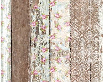 New  Decoupage Rice Paper PALLET WOOD, Dixie Belle, junk journal, mixed media, Shabby Rice Paper, 3 sheets per pack, Free Shipping