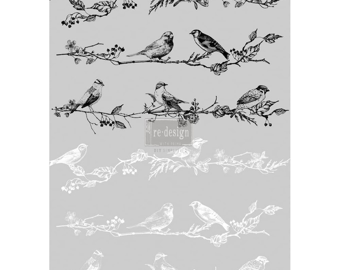 Birds and Berries transfer, Prima Transfers, Redesign Transfer, Free shipping