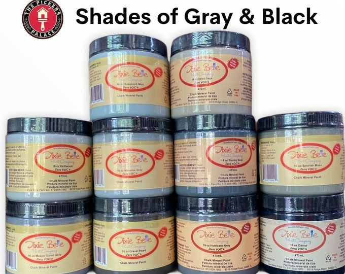 Shades of Gray in Dixie Belle Chalk Paint , Chalk Mineral Paint, Furniture Paint, Gray Paints,
