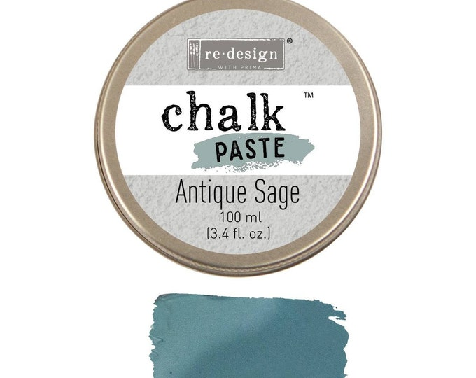 Chalk Paste for stencils  ANTIQUE SAGE from Prima Redesign, free shipping