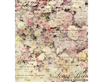 Floral & Dreams  Rice Paper, Free Shipping ,11.5″ X 16.25″, Re-Design with Prima