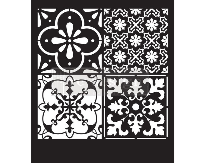 NEW Coastal Tile Prima Redesign Stencils,  Furniture Stencils, Mylar Stencils,  Wall stencil, stencils, FREE SHPPING