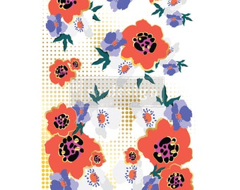 CECE MODERNIST FLORAL Transfer with Free Shipping, Redesign transfer,  transfer, tattoo transfer