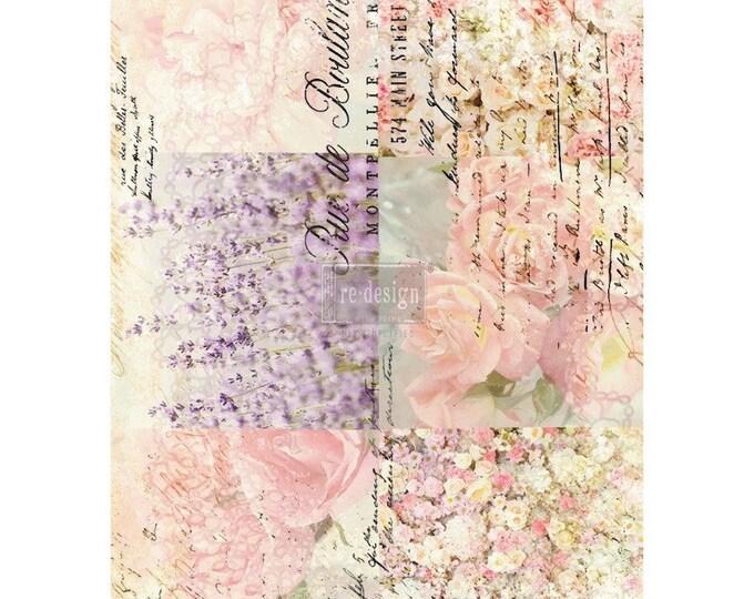 Floral Gardens transfer, Prima Transfers, Redesign Transfer, Free shipping
