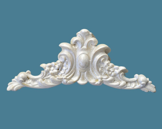 P8 Flower and Leaf Pediment, EFEX, Replacement Moulding, Historic Moulding, Silicone Moulding, Embellishment , Made In USA, Free Shipping