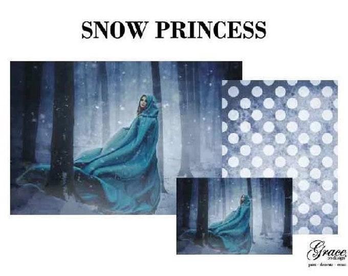 SNOW PRINCESS Decoupage Pack, 3 sheets , Free Shipping