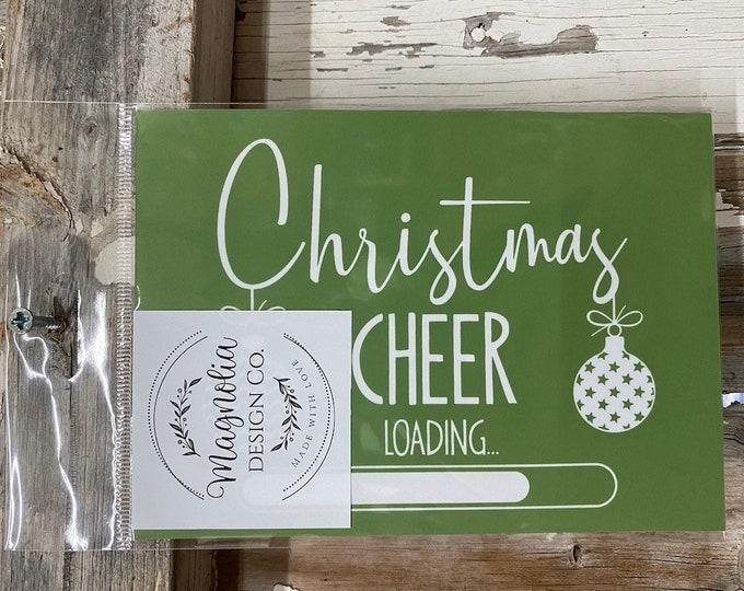 Magnolia Design Company Stencil, Christmas Cheer , Reusable Stencil, Adhesive Stencil FREE SHIPPING
