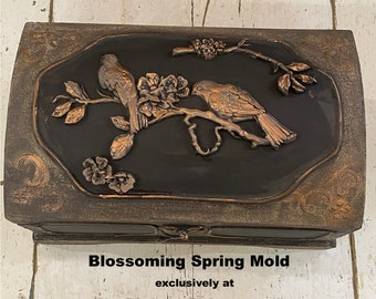 Blossoming Spring, VIP Redesign Exclusive Mold,Bird Mold, Free USA Shipping , Silicone Mold,  Resin Mold, International Shipping