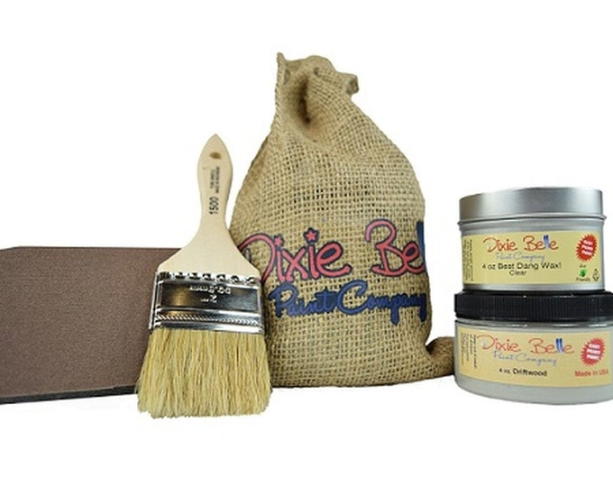 Dixie Belle Gift for Painters, Crafters, and People who love to make things!  Paint, Clear Coat, Brush, Sponge