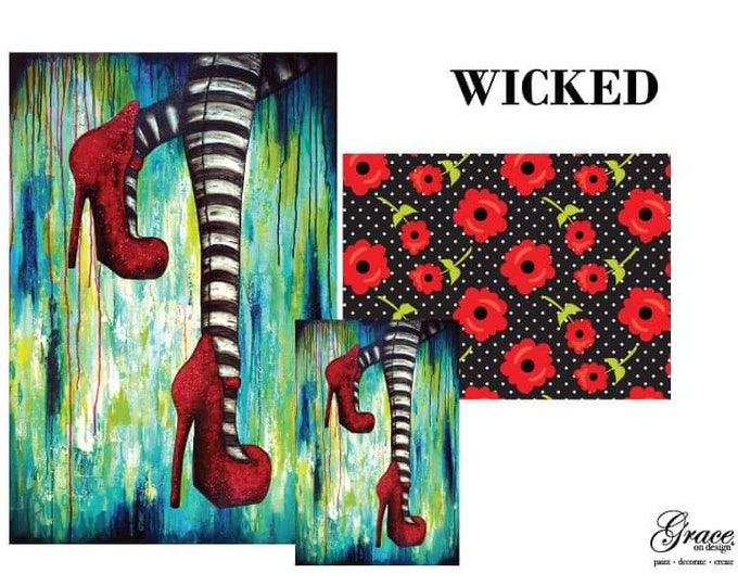 PRE ORDER WICKED Grace on Design  Decoupage Pack, 3 sheets , Free Shipping