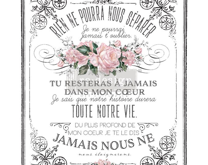 NEW FALL 2020 My Heart, french Transfer , New Prima Transfer,  Redesign Decor Transfer Free Shipping