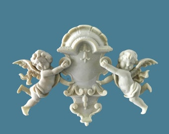 R50 Chic Cherub Onlay , EFEX , Replacement Moulding, Historic Moulding, Silicone Moulding, Embellishment  , FREE SHIPPING