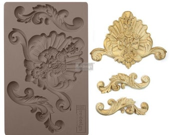 English Gardens FREE SHIPPING Redesign with Prima Decor Moulds , Silicone Mold,  Resin Mold, 5 x 8 Silicone Mold