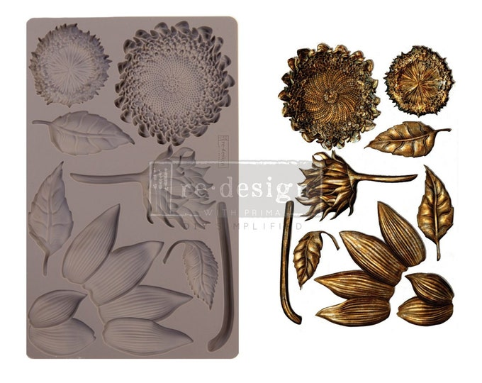 Forest Treasures FREE SHIPPING Redesign with Prima Decor Moulds , Silicone Mold,  Resin Mold, 5 x 8 Silicone Mold