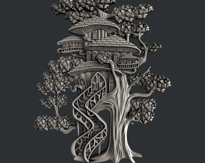 TREE HOUSE , Zuri Mold, Tree house, Tree mould , decor mold , cake , chocolate mold, mixed media mold , Resin mold, Free shipping